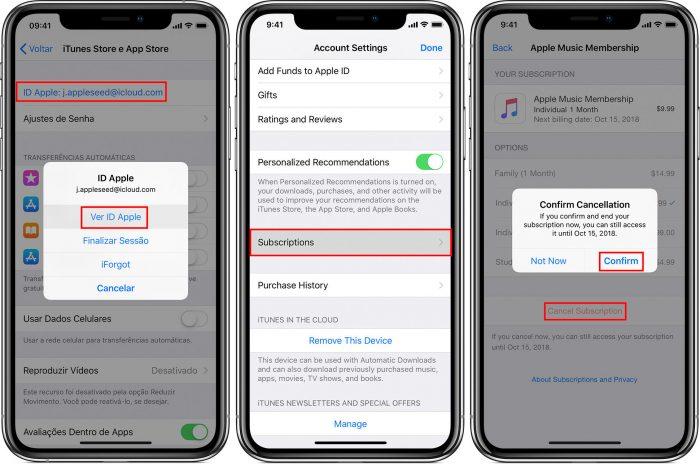 Apple / cancelar assinaturas / como cancelar assinatura da crunchyroll