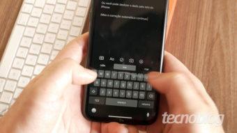Os novos gestos para edição de texto no iOS 13