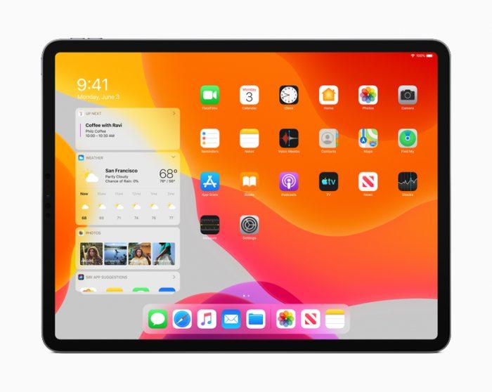 iPadOS com widgets