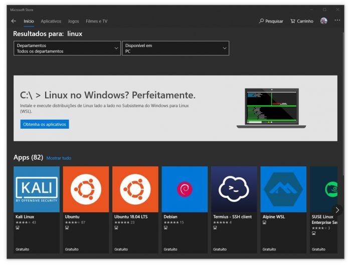 Distribuições Linux estão presentes no Windows 10