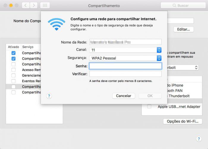 macOS / compartilhamento de rede