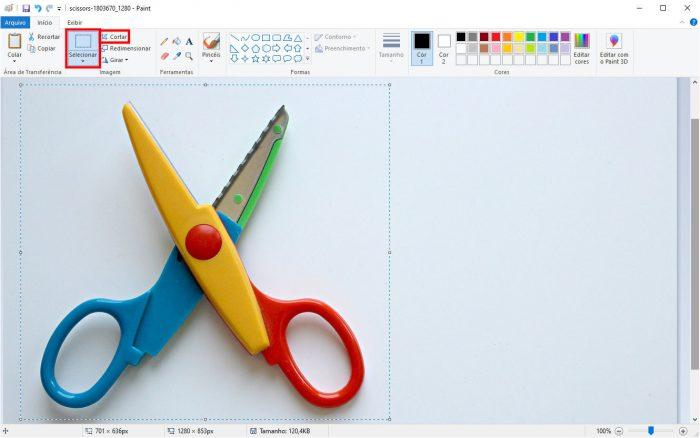 Windows / Paint / como recortar uma imagem