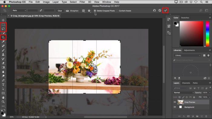 macOS / Adobe Photoshop / como recortar uma imagem