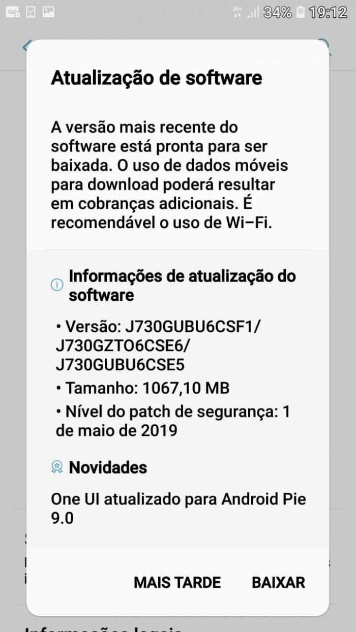Galaxy J7 Pro, J7 Neo e J4 Core recebem Android 9 Pie no