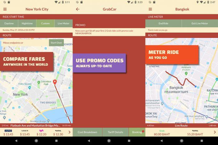 Android / Taxi Explorer / uber preço