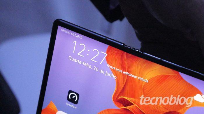 TIM 5G / Huawei Mate X (Foto: Paulo Higa)