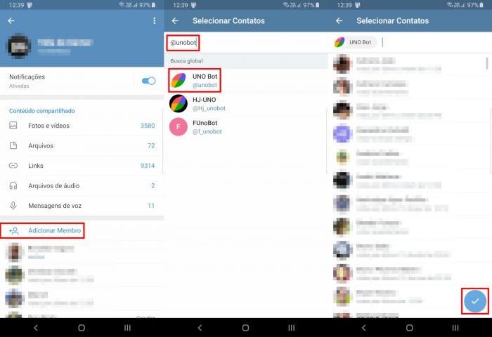 Android / UNO / como jogar uno no telegram