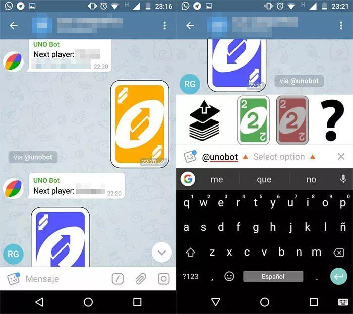 Telegram / UNO / como jogar uno no telegram