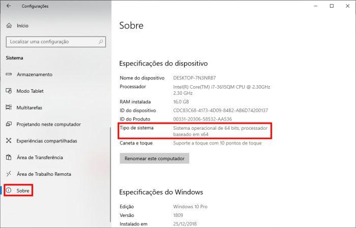Microsoft / Windows 10 / 32 ou 64 bits