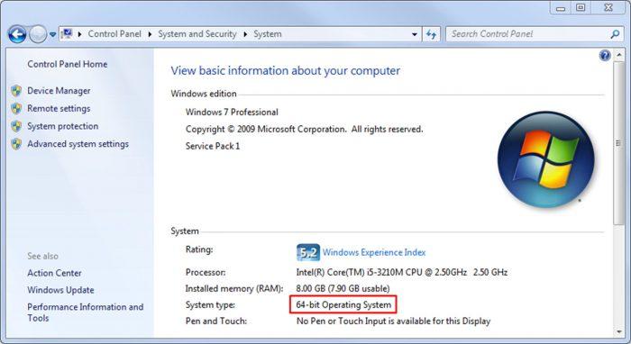Microsoft / Windows 7 / 32 ou 64 bits