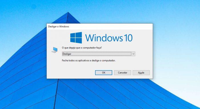 Windows 10 / atalho Alt + F4 / como desligar o notebook pelo teclado