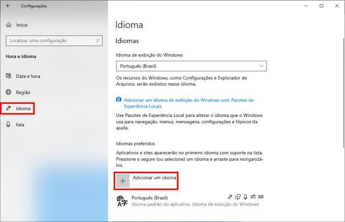 Windows 10 / configurações de idioma / como configurar teclado notebook