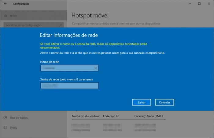 Windows 10 / compartilhamento de rede