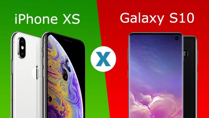 COMPARATIVO iPhone XS vs Galaxy S10