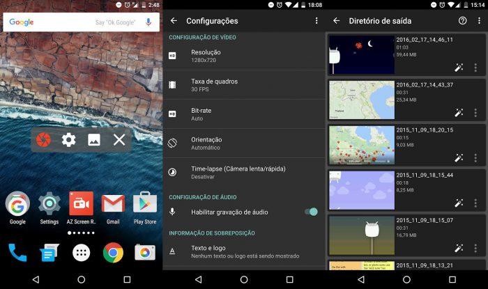 Android / AZ Screen Recorder / como gravar chamadas do whatsapp