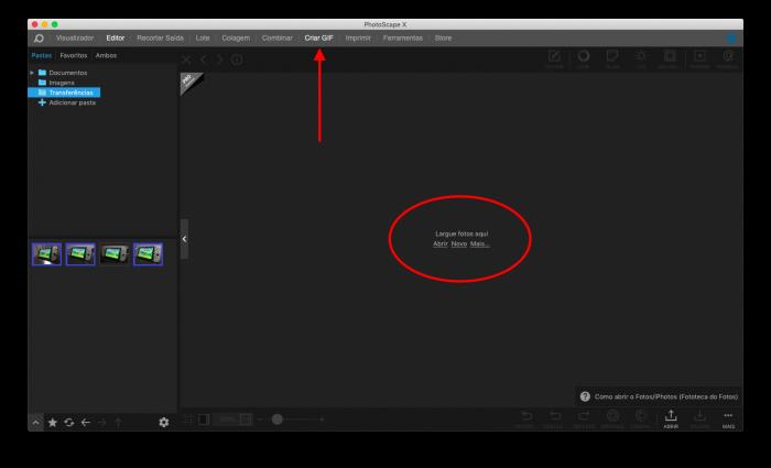 como criar gif com o photoscape