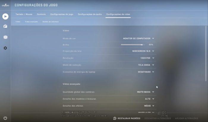 Valve / configurações de vídeo / como rodar cs go em pc fraco