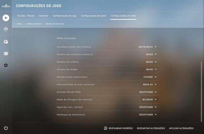 Valve / CS GO / como aumentar o fps do cs go