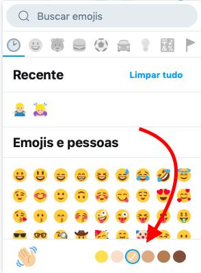 mudando cor do emoji no twitter