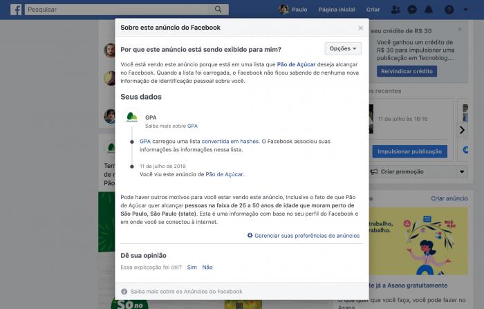 Facebook / Anúncios