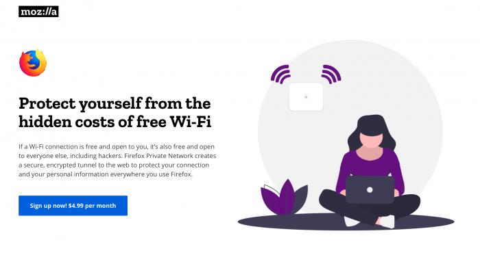 VPN do Firefox