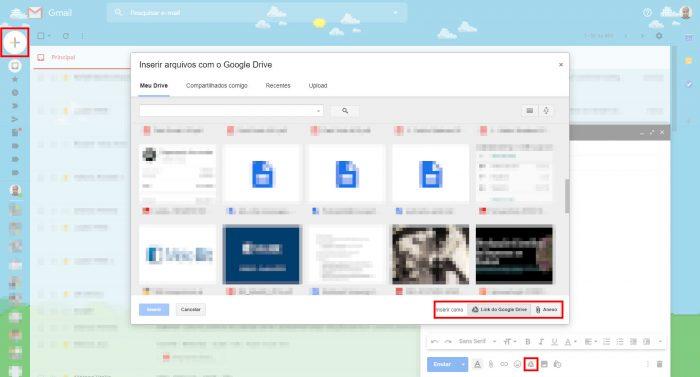 Google / Gmail com Google Drive / como enviar arquivos grandes por e-mail