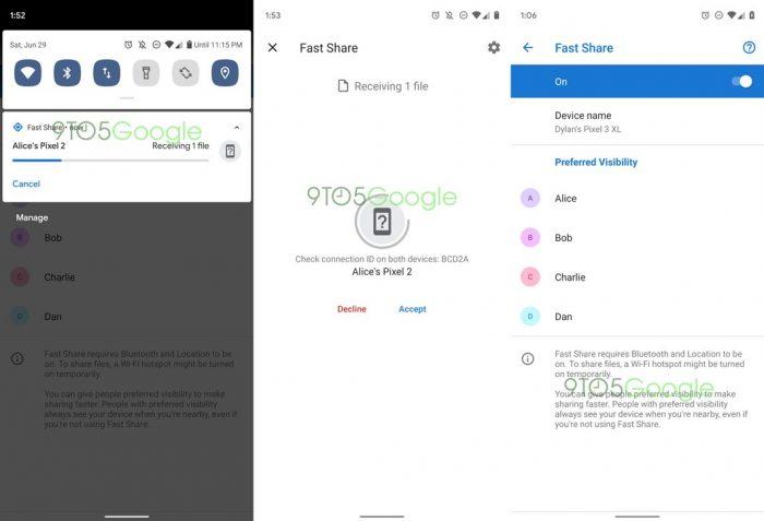 Google prepara ferramenta para Android parecida com o AirDrop