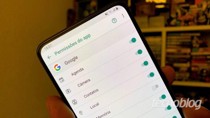 Ajustes de privacidade no Android 9