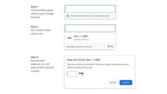 Chrome preenche dados de cartão de crédito mesmo sem sincronização