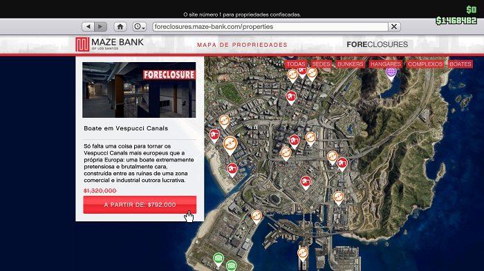 Como comprar casas e negócios no GTA 5 (V) [online e offline