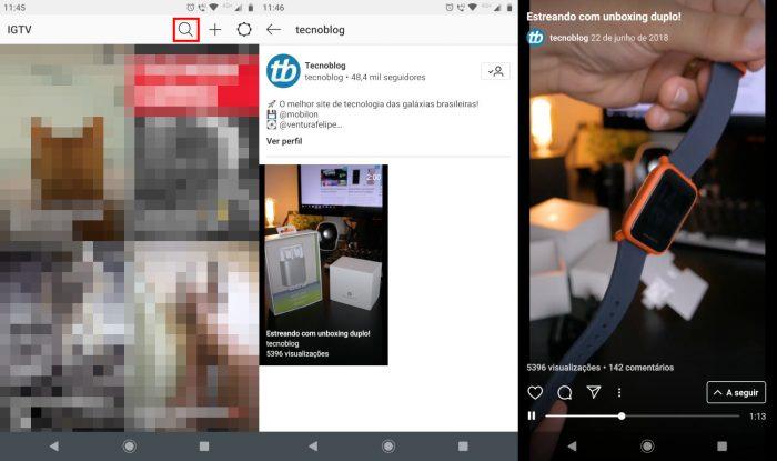 Android / IGTV / o que é igtv