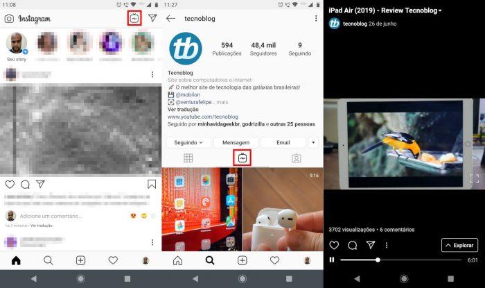 Android / Instagram / que é igtv