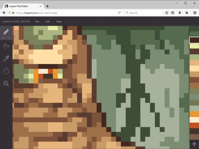 Lospec Pixel Editor / como fazer pixel art