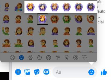 Mudar a cor do emoji no Messenger do Facebook Web