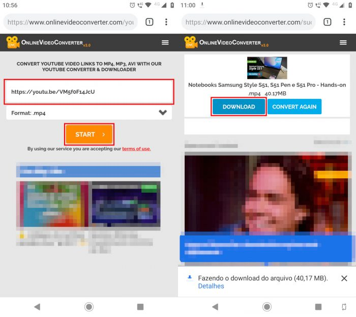 Android / Online Video Downloader / como colocar um vídeo inteiro no status do whatsapp