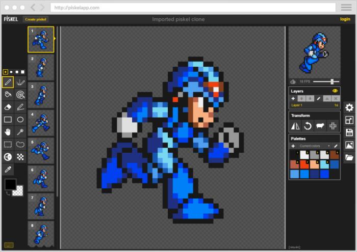 Piskel / como fazer pixel art