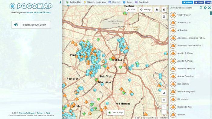 PoGoMap / mapas pokémon go