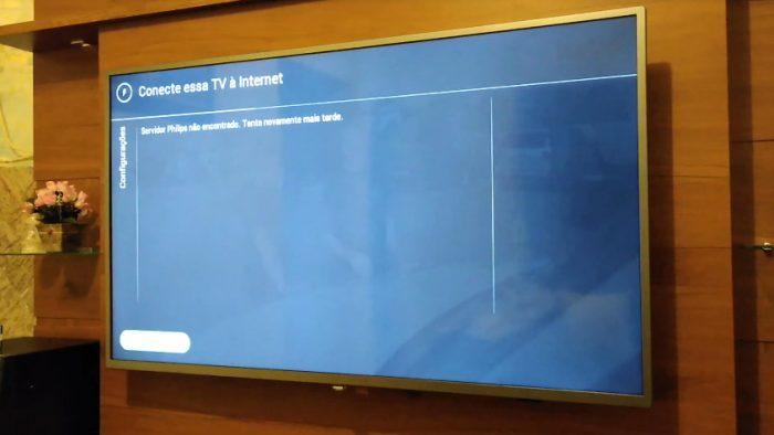 """Smart TV Philips com falha """"servidor não encontrado"""""""