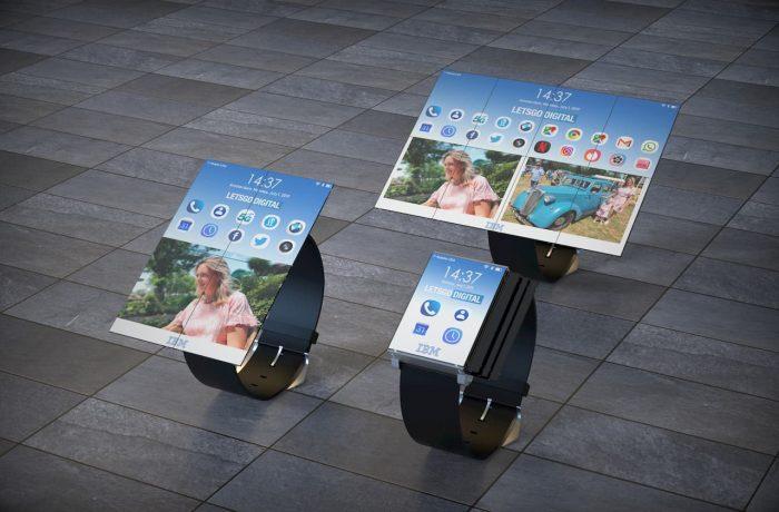 Smartwatch da IBM pode ter até oito telas desdobradas