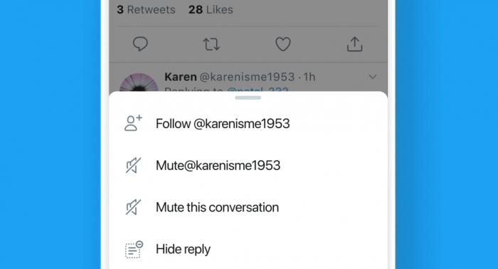 Twitter / Ocultar respostas