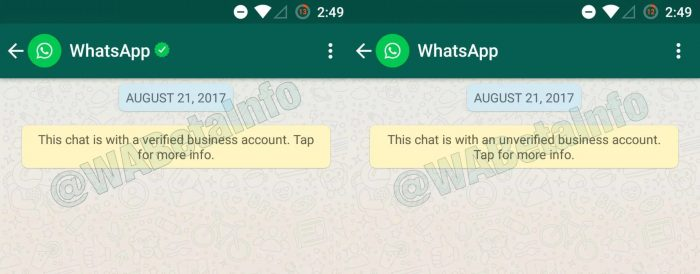 WhatsApp Business / conta comercial whatsapp