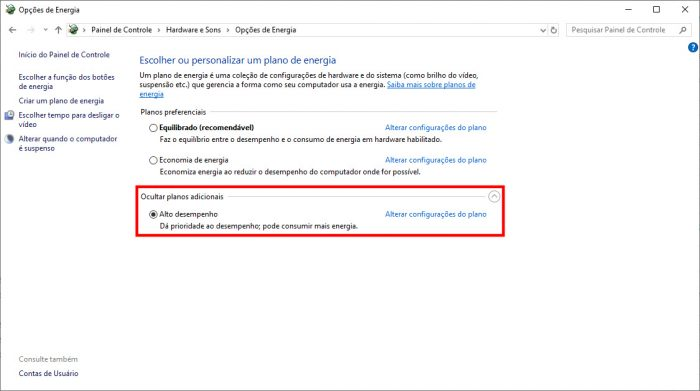 Windows 10 / Painel de Controle / como aumentar o fps do cs go