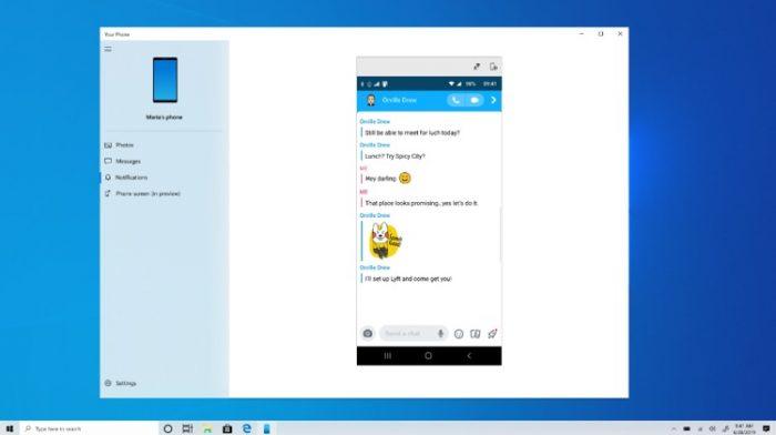 Windows 10 e espelhamento do Snapchat