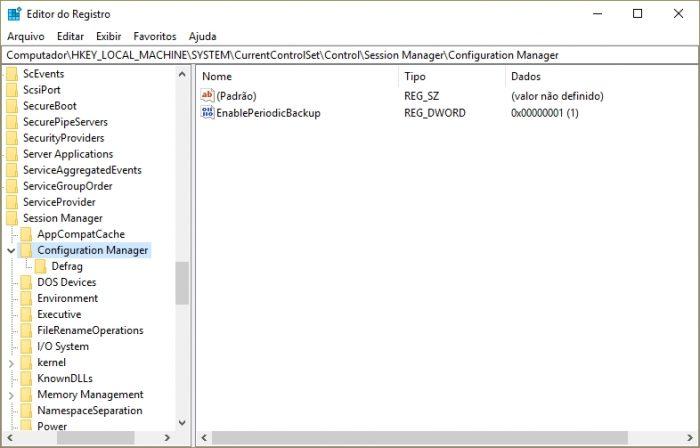 Editor de Registro do Windows