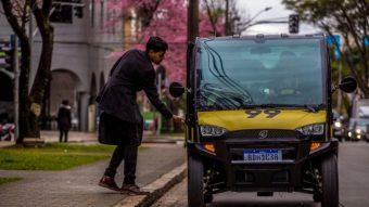 99 testa carro elétrico em corridas na cidade de Curitiba