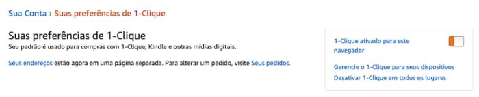 Amazon Compra com Um Clique