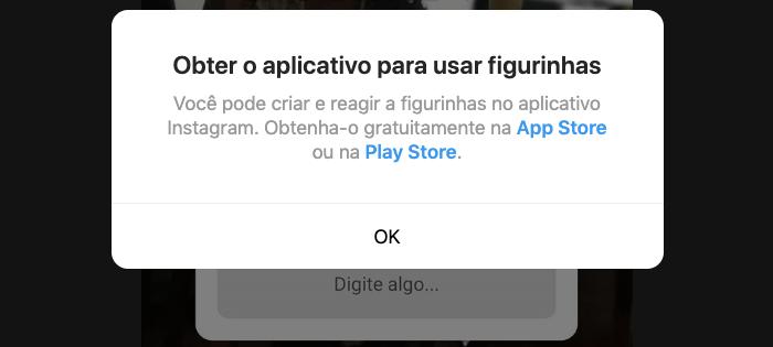 Fugurinhas do Instagram só Aplicativo