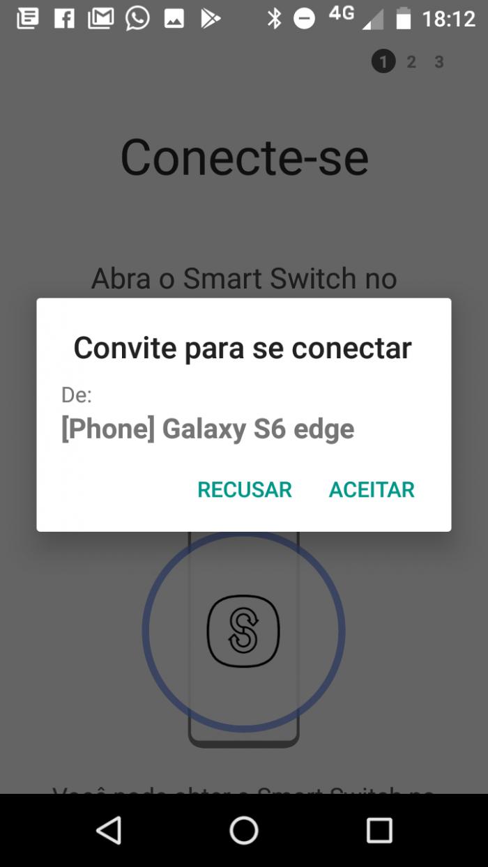 configurar para transferir arquivos pelo smart switch