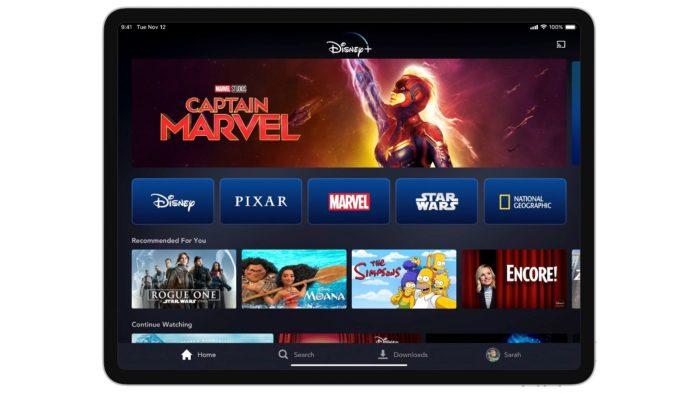 Disney+ no tablet
