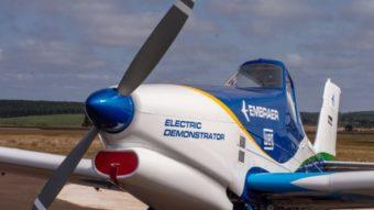 Embraer mostra primeiras fotos de protótipo de avião elétrico